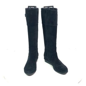Black Leather Cole Haan Knee High Boots 6.5